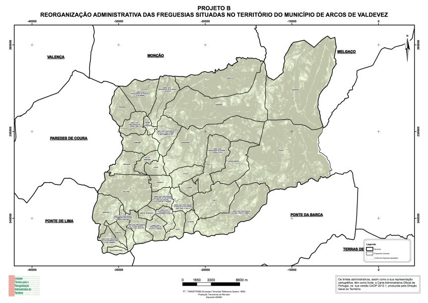 Mapa de Arcos de Valdevez