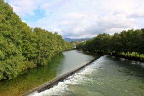Rio Vez, Arcos de Valdevez, açude antes da ínsua